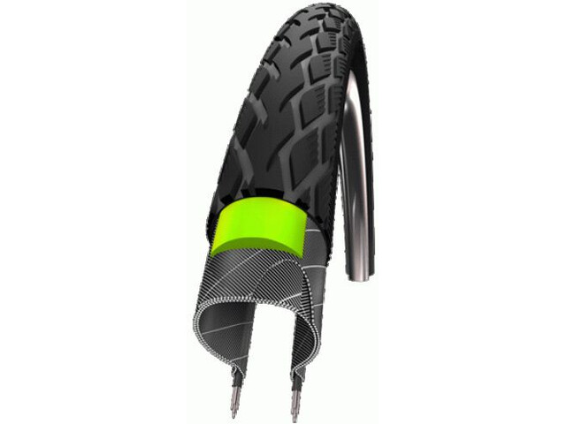 "SCHWALBE Marathon Green Guard Pneu Performance 28x1 1/2"" rigide Reflex"